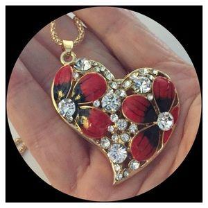 🌺Beautiful Crystal Heart Pendant Bling